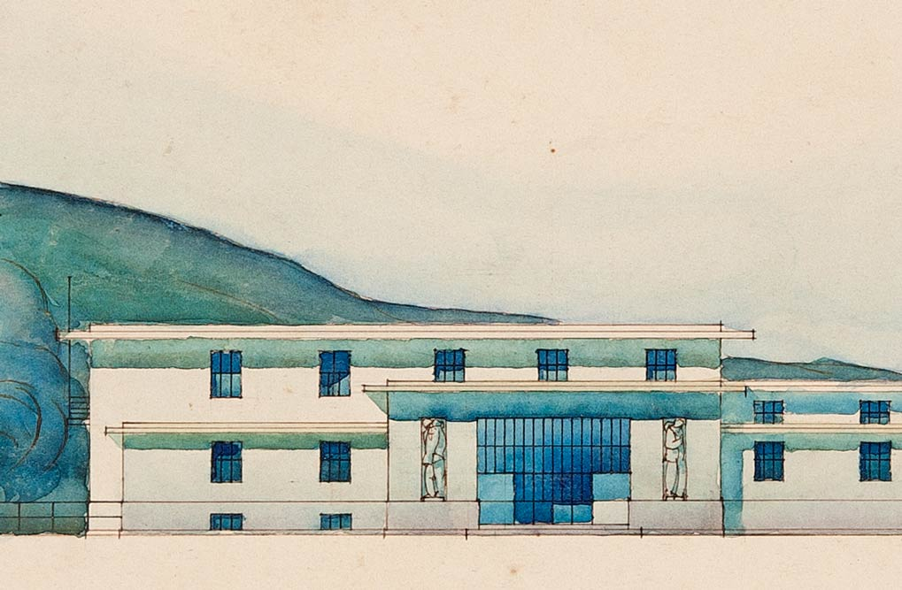 Fasada stanične zgrade, segment