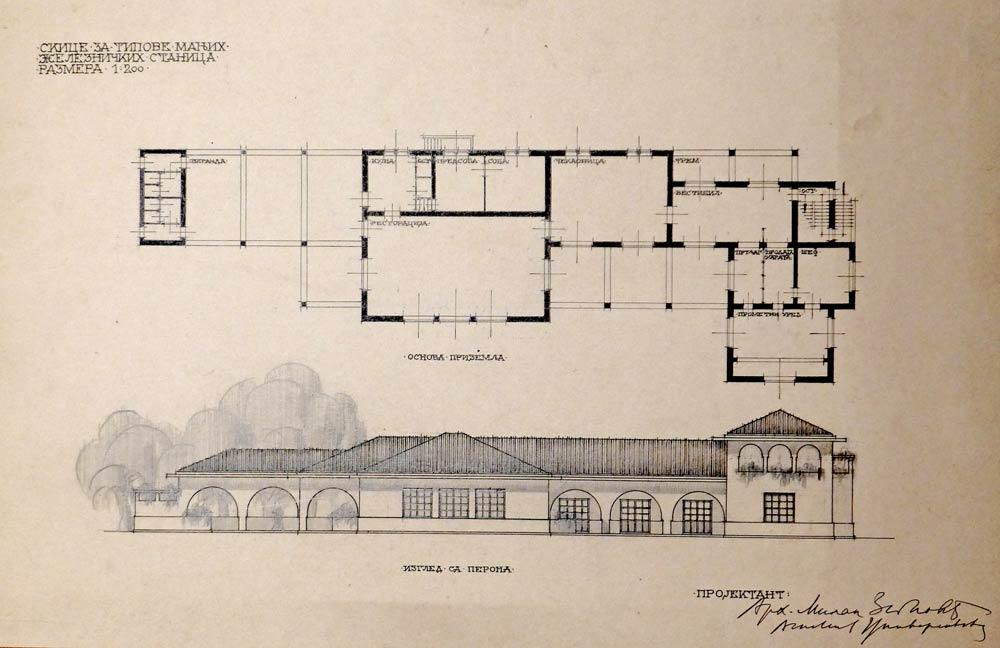 Manja železnička stanica, izgled sa perona