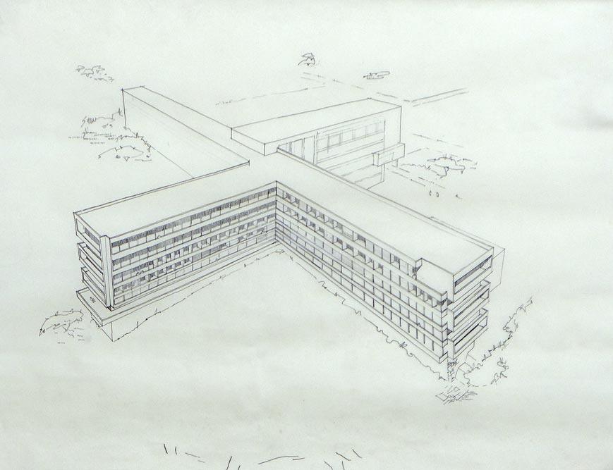 Perspektivni crtež Ginekološko-akušerske klinike