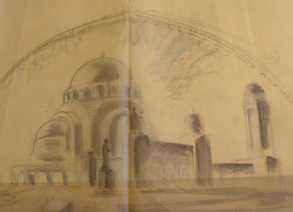 Radna skica za hram Sv. Save na Vračaru