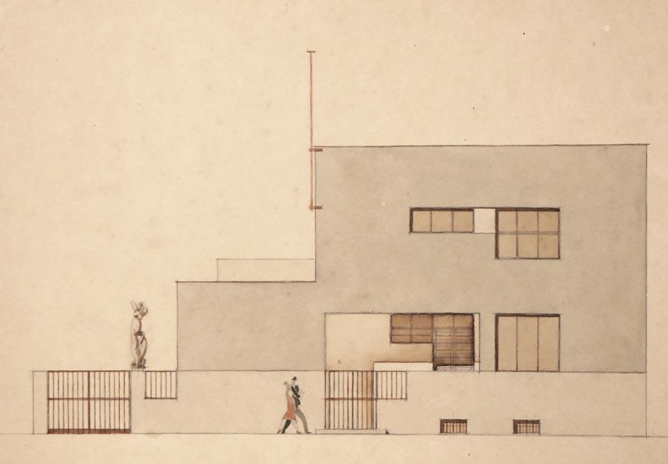 Vila Prendić, ulična fasada