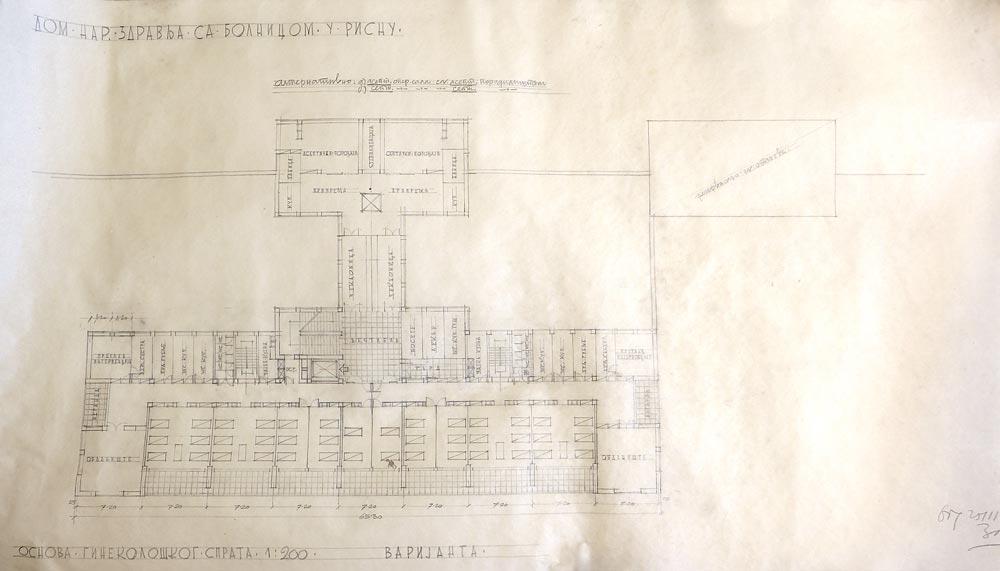 Gynecology floor plan, variant