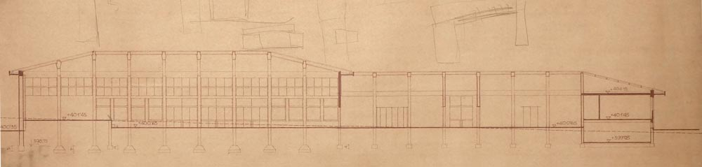 Section through the auxiliary building
