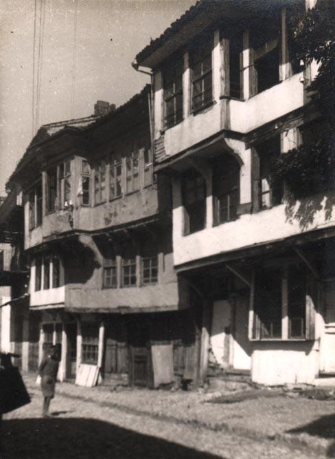 Fragment uličnog fronta u Ohridu, fotografija iz 1935. godine