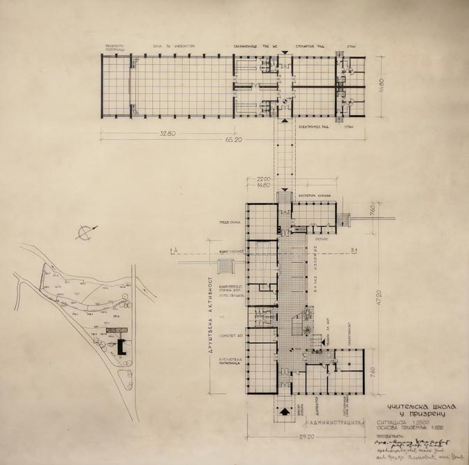 Ground floor layout plan - both buildings