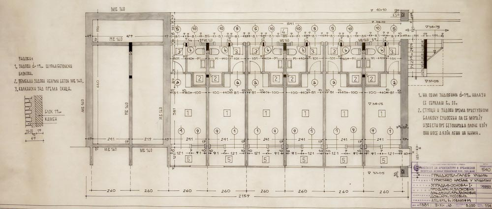 Grand Hotel Galeb, building 4, lower ground floor plan