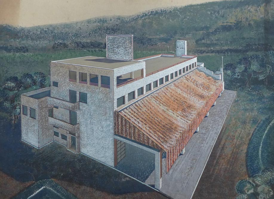 Crtež hotela, glavna fasada