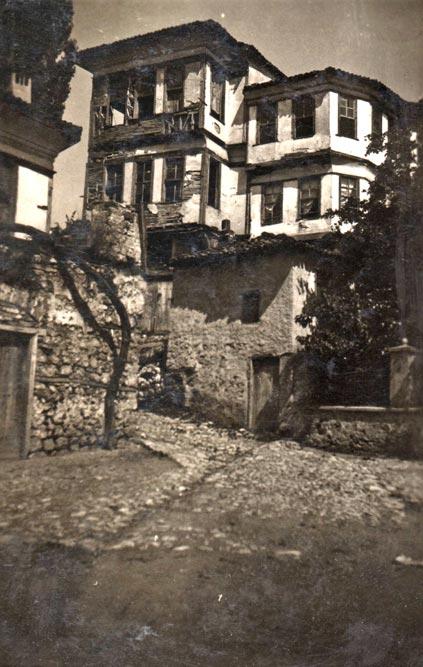 Dvospratna kuća u Ohridu, fotografija iz 1935. godine