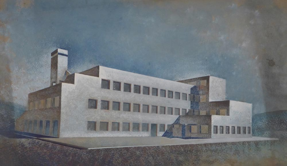 Crtež hotela, zadnja fasada