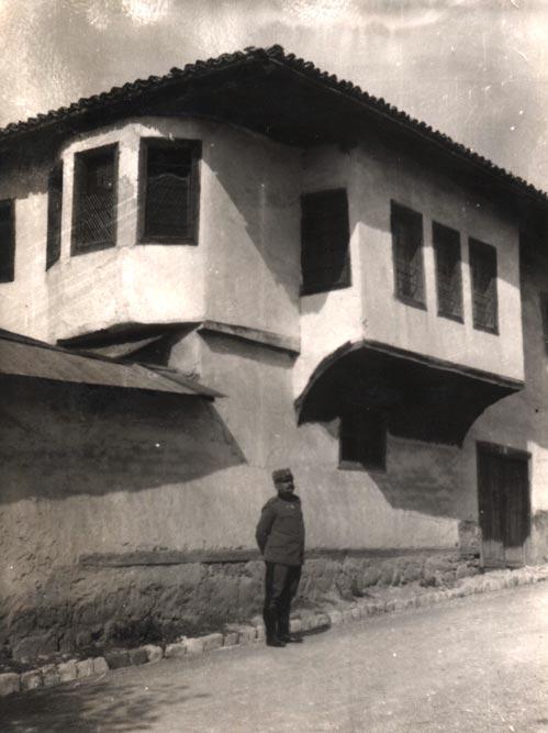 Jednospratna kuća u Ohridu, fotografija iz 1935. godine