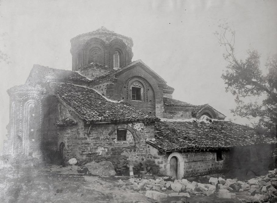 Crkva Sv. Klimenta u Ohridu, pogled s severo-istočne strane, fotografija iz 1923. godine
