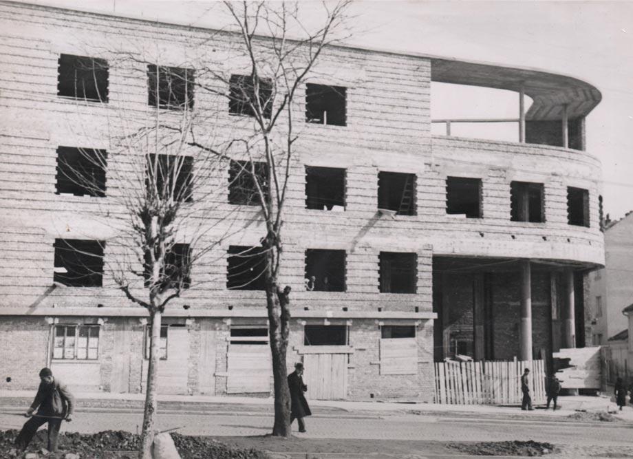 Objekat u izgradnji, fotografija iz 1940. godine