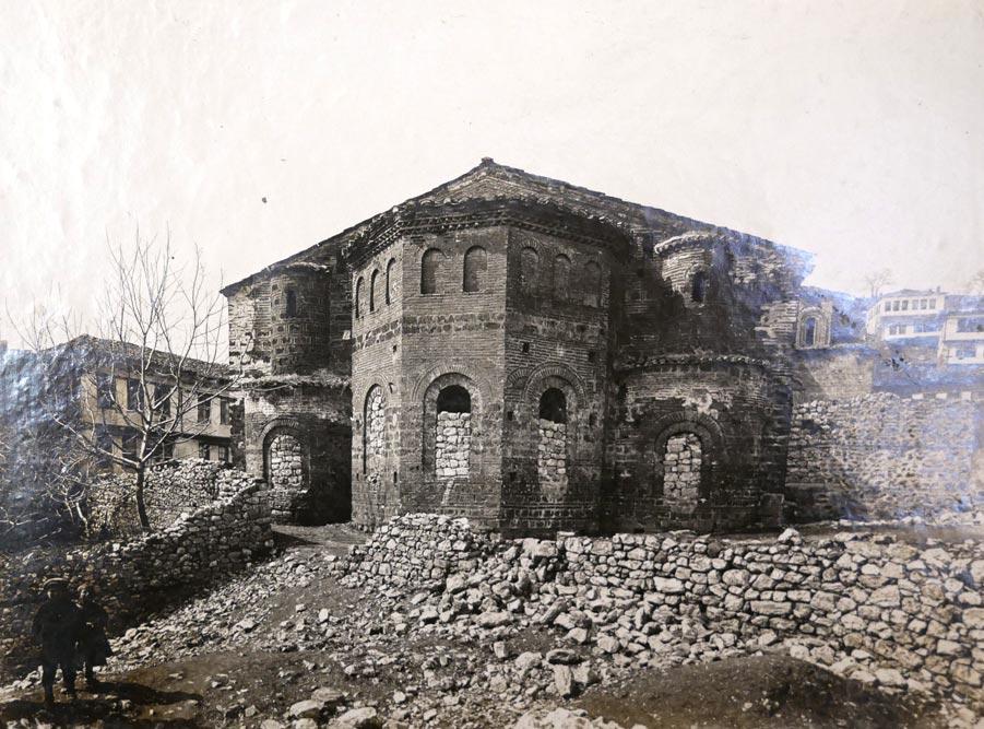 Crkva Sv. Sofije u Ohridu, istočna strana - apsida, fotografija iz 1923. godine
