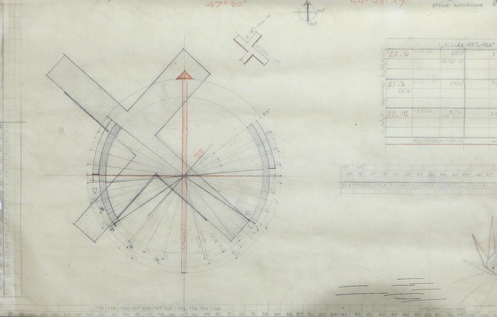 Radna skica, način orijentacije krila objekta