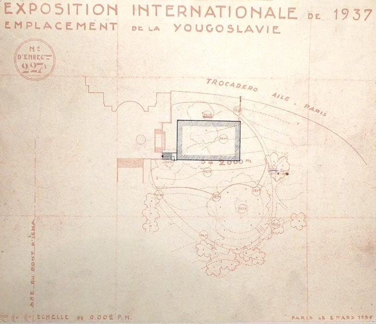 Site plan of the pavilion