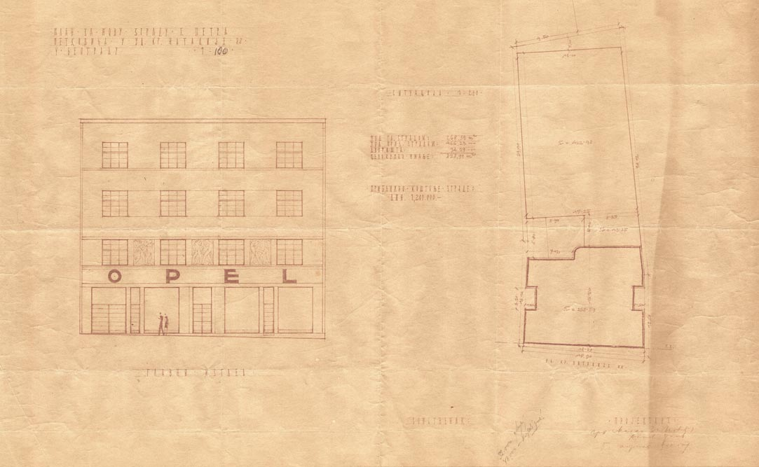 Situacioni plan i glavni izgled (ulična fasada)