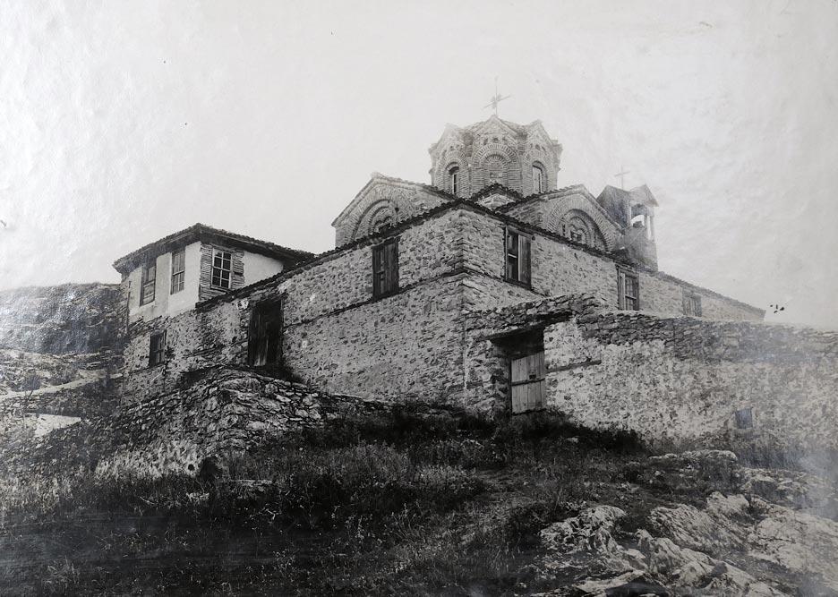 Crkva Sv. Jovana Bogoslova u Ohridu, pogled s južno-zapadne strane, fotografija iz 1923. godine