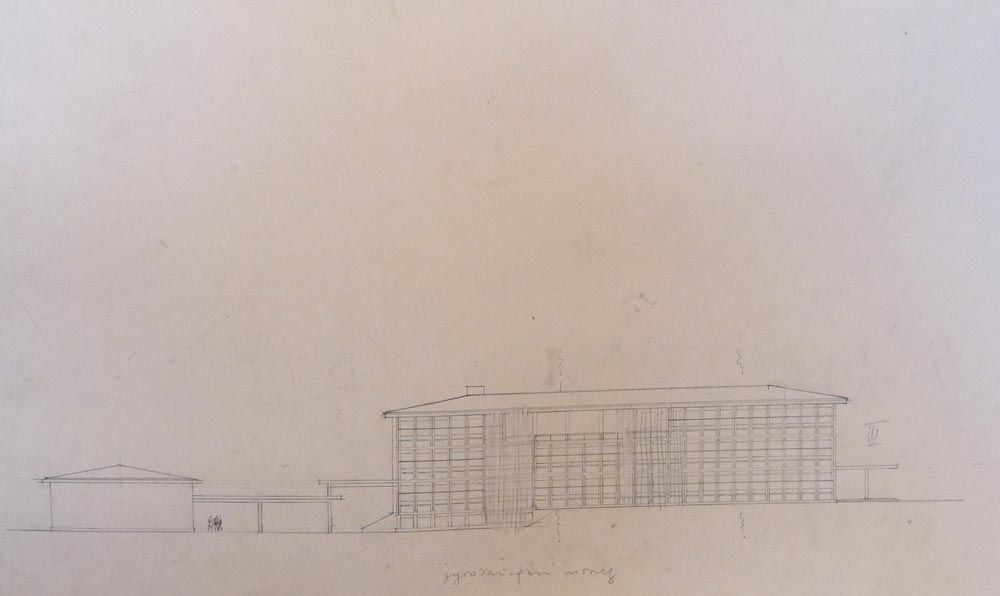 Main elevation, working sketch