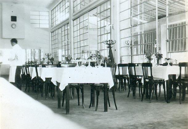 Restoranska sala, fotografija iz 1930-tih godina