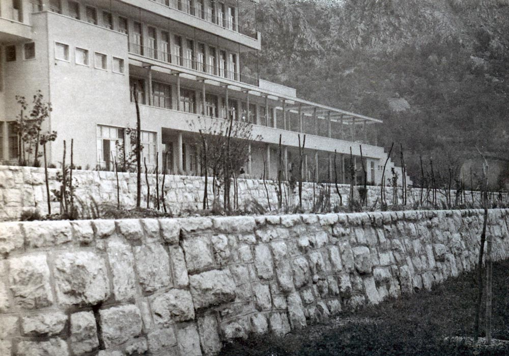 View of the building under construction, photography