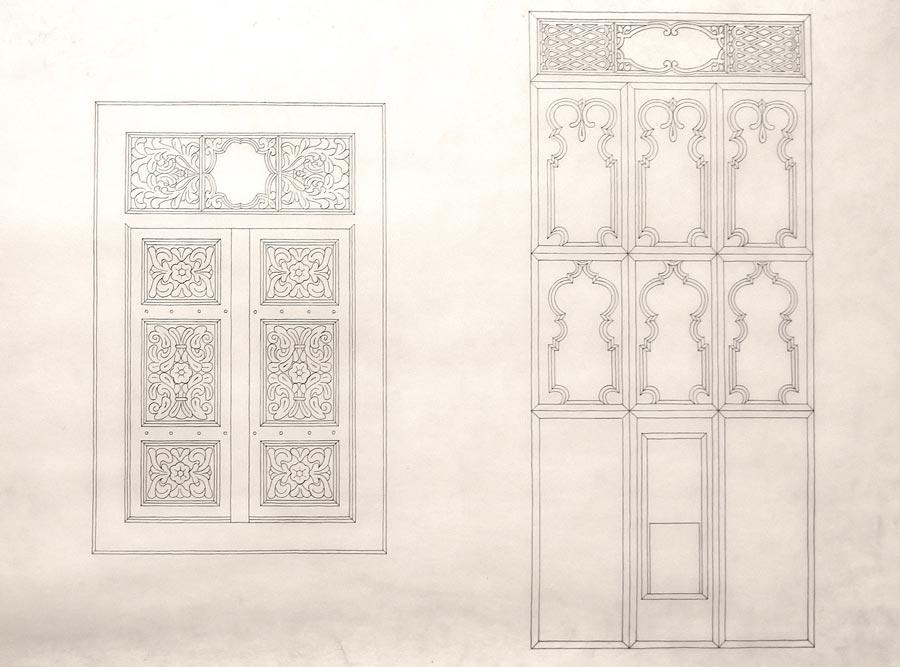 Džamija u Ulcinju, ornamentika u drvetu