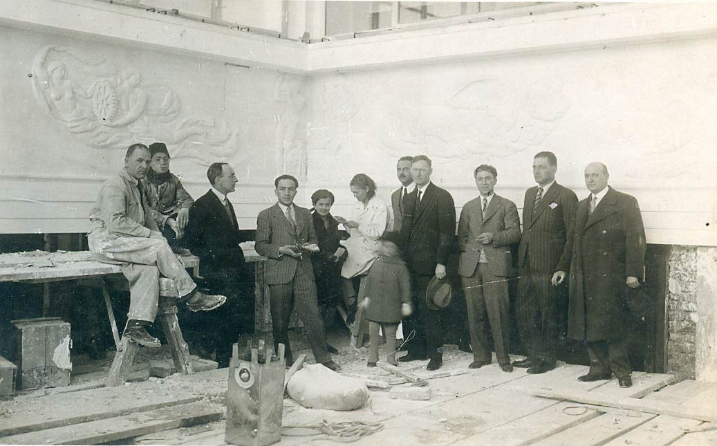 Architect Zloković during the execution of works on interior design