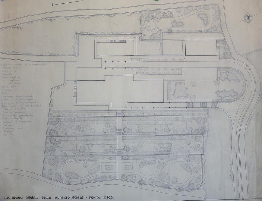 Ground floor arrangement of the garden