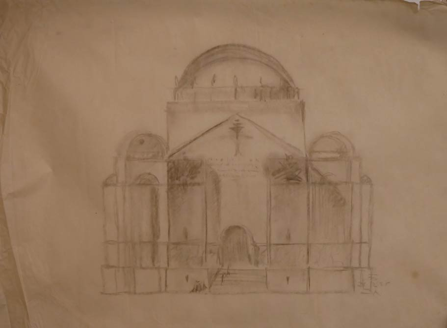 Skica, glavna fasada
