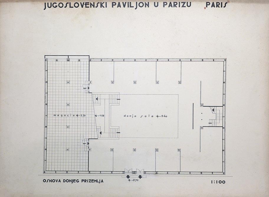 The floor plan of the lower ground floor