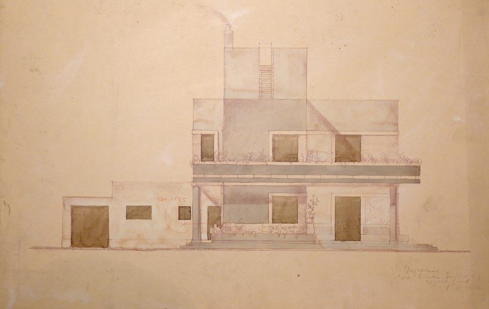 Crtež dvorišne fasade