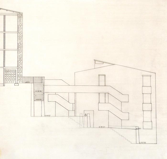 Side view, working drawing
