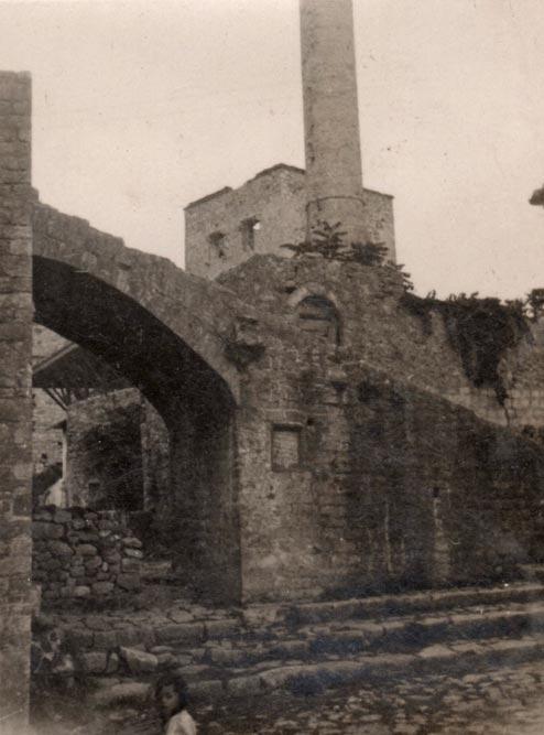 Gradska tvrđava u Starom gradu Ulcinja, fotografija iz 1935. godine