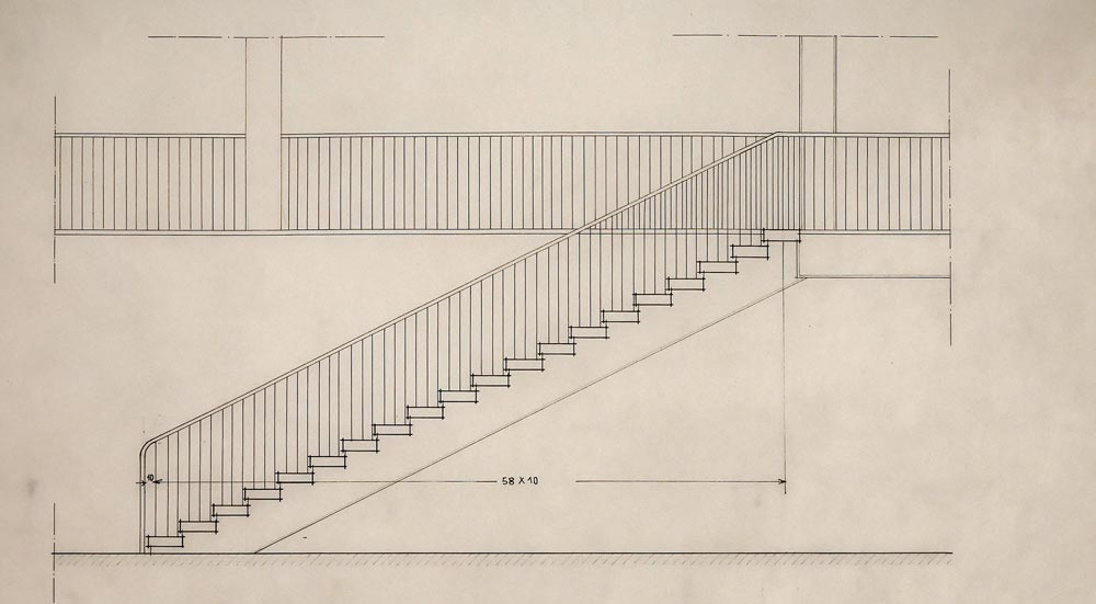 Elevation of the internal staircase