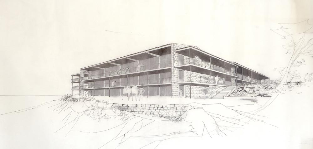 Perspective drawing, working study