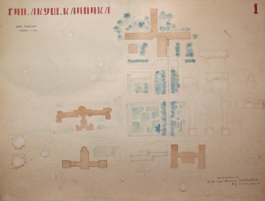 Situacioni plan sa prikazom šire lokacije