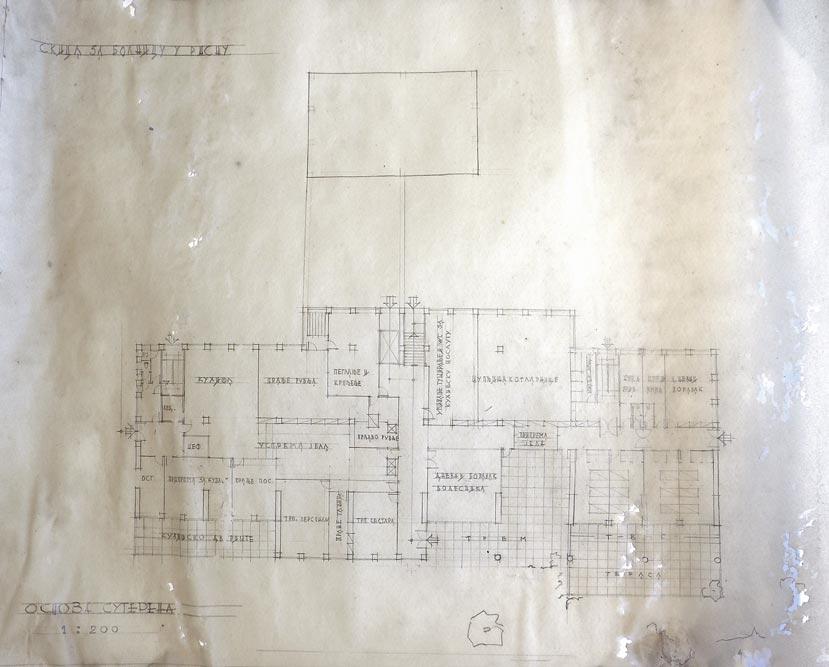 Basement floor plan, sketch