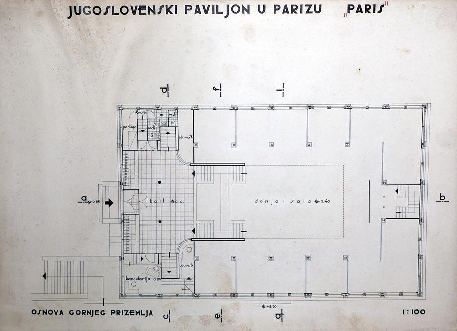 The floor plan of the upper ground floor