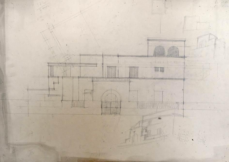 Working sketch of Zloković's house