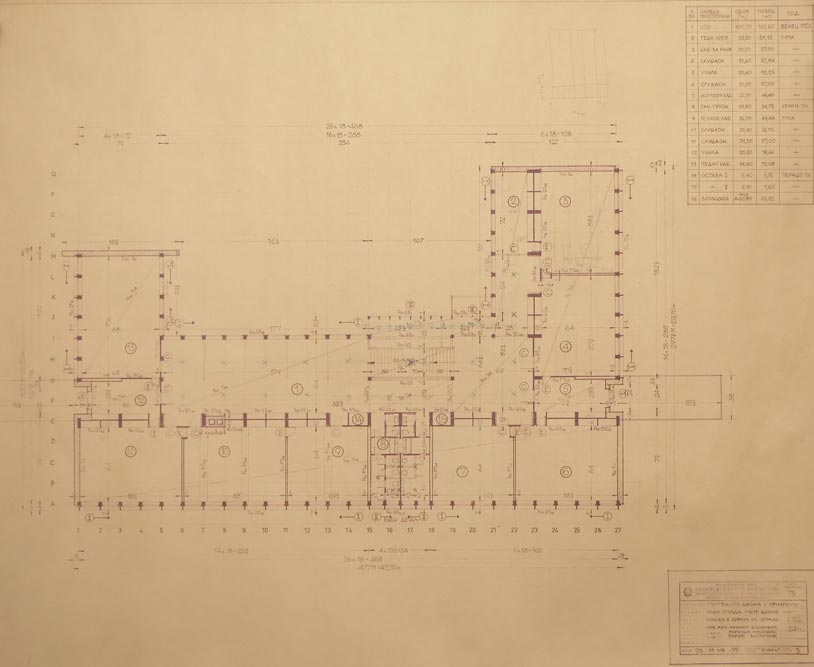 First floor layout plan of the main building