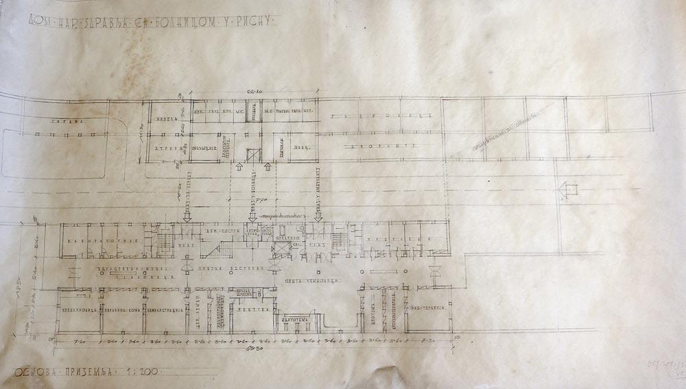 Ground floor plan, sketch
