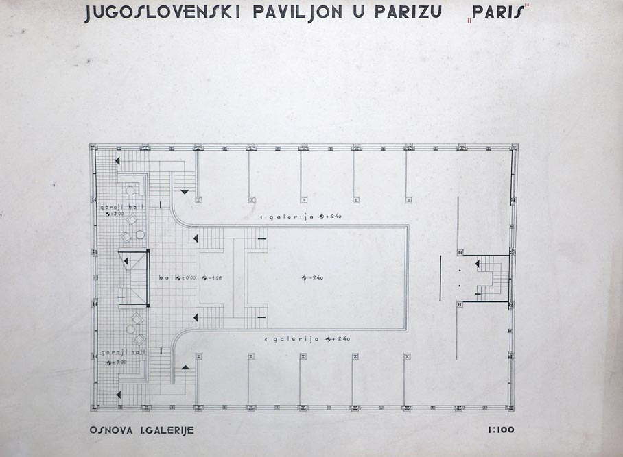 The floor plan of the first gallery