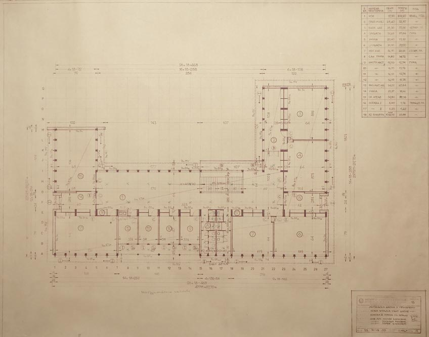 Second floor layout plan of the main building