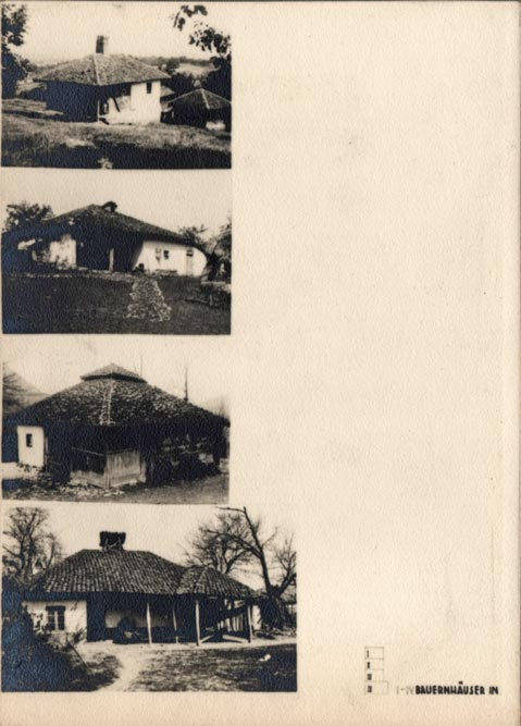 Jugoslaviens Balkanische Holzarchitekturen (1940): balkanska stambena arhitekura (kuće sa četverovodnim krovom)