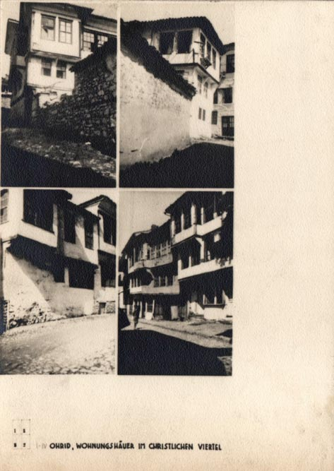 Jugoslaviens Balkanische Holzarchitekturen (1940): Ohrid, gradska profana arhitektura