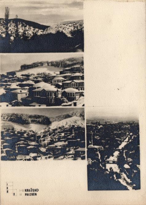 Jugoslaviens Balkanische Holzarchitekturen (1940): Kruševo, Prizren (panorame)