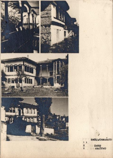 Jugoslaviens Balkanische Holzarchitekturen (1940): Ohrid, Kruševo (gradske kuće)