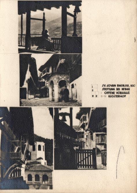 Jugoslaviens Balkanische Holzarchitekturen (1940): Manastir Sveti Jovan Bigorski, na padinama planine Bistre u Severnoj Makedoniji