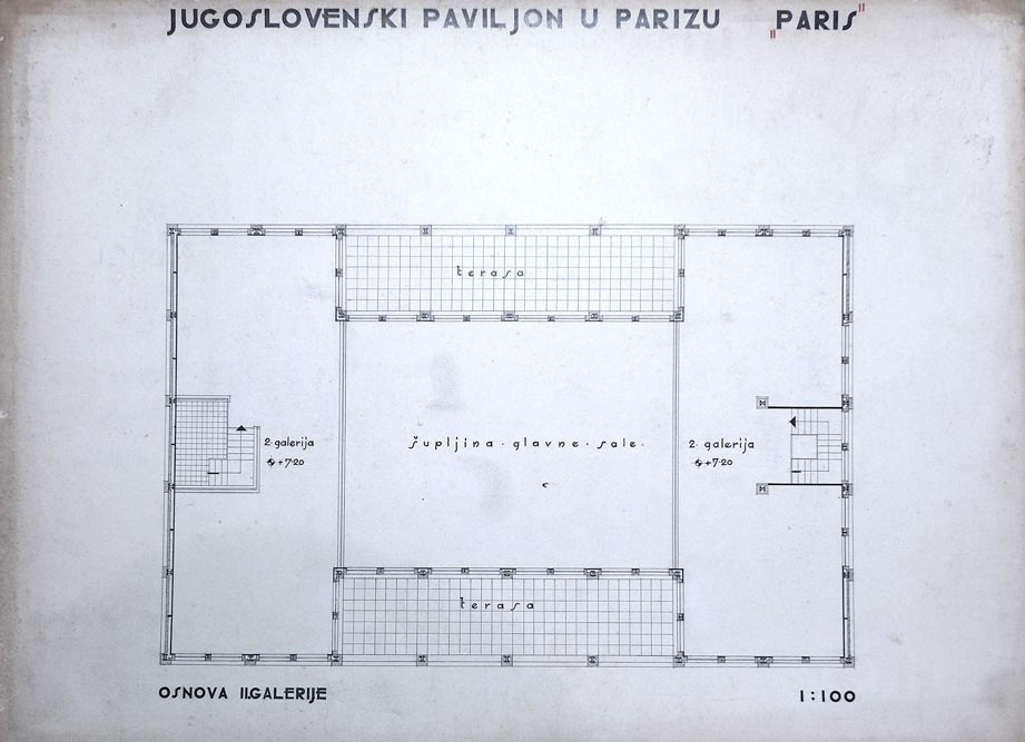 The floor plan of the second gallery