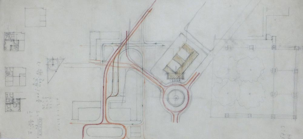 Working sketches of the traffic solution