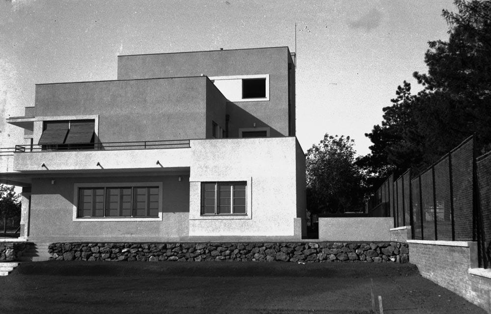 Vila Šterić, dvorišna fasada. Fotografija iz 1930-tih godina